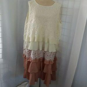 Ruffle lace layered DRESS